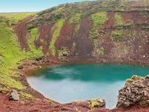 Lago vulcanico Kerid del cratere fotografia stock libera da diritti