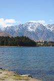 Lago Wakatipu e il Remarkables in Nuova Zelanda Immagini Stock Libere da Diritti