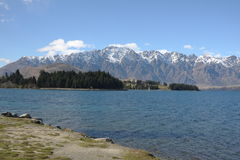 Lago Wakatipu e o Remarkables em Nova Zelândia Fotografia de Stock Royalty Free