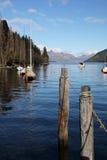Lago Wakatipu em Queenstown Nova Zelândia Imagem de Stock Royalty Free