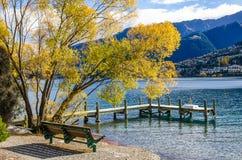 Lago Wakatipu en Queenstown, Nueva Zelanda Imagen de archivo libre de regalías
