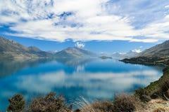 Lago Wakatipu, ilha sul, Nova Zelândia imagem de stock