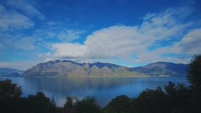 Lago Wakatipu, isola del sud, Nuova Zelanda Immagini Stock