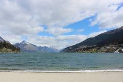 Lago Wakatipu, Nueva Zelanda, árbol Queenstown fotos de archivo libres de regalías