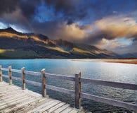 Lago Wakatipu, Nueva Zelanda Foto de archivo libre de regalías