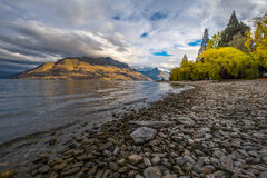 Lago Wakatipu, Nuova Zelanda immagine stock