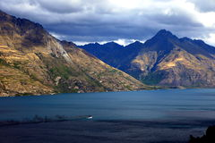 Lago Wakatipu, Queenstown Fotografía de archivo