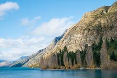 Lago Wakatipu, Queenstown, Nova Zelândia Fotografia de Stock Royalty Free
