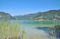 Lago Walchsee, Koessen, Tirolo, alpi, Austria Fotografie Stock Libere da Diritti