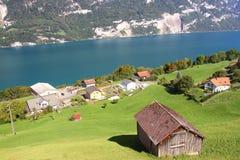 Lago Walensee in alpi svizzere Fotografia Stock