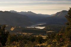 Lago Wanaka dal ferro del supporto Fotografie Stock Libere da Diritti