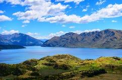 Lago Wanaka e Mt che aspirano Fotografia Stock Libera da Diritti