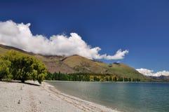 Lago Wanaka escénico en Nueva Zelandia Imágenes de archivo libres de regalías