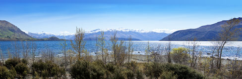 Lago Wanaka Nueva Zelandia Foto de archivo