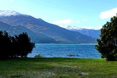 Lago Wanaka in Nuova Zelanda Immagini Stock Libere da Diritti