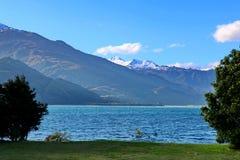 Lago Wanaka in Nuova Zelanda Fotografia Stock