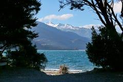 Lago Wanaka in Nuova Zelanda Fotografia Stock Libera da Diritti