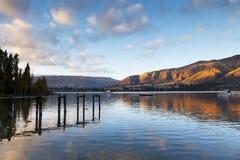 Lago Wanaka Otago Nueva Zelanda imagen de archivo libre de regalías