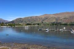 Lago Wanaka, Otago, Nuova Zelanda dell'estremità sud immagine stock libera da diritti