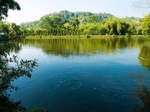 Lago a Wat Pa Sri Thaworn Nimit Immagine Stock