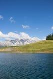 Lago water Reservoir no rgl Alm do ¼ de Bà em Dienten Am Hochkönig em Salzburg Áustria Fotos de Stock