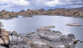 Lago Watson Granite Dells, Prescott Arizona U.S.A. fotografia stock libera da diritti