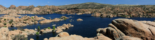 Lago Watson Prescott Arizona foto de archivo