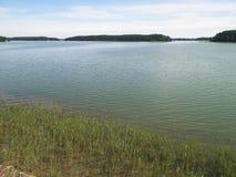 Lago Wdzydze, bosque de Tuchola, Polonia Foto de archivo libre de regalías