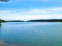 Lago Wdzydze, bosque de Tuchola, Polonia Imagenes de archivo