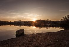Lago Weinheim ad alba Fotografie Stock