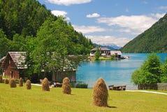 Lago Weissensee, Carinthia, Austria immagine stock