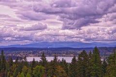 Lago whitefish, Montana fotos de stock