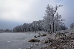 Lago Wigry winter Imagens de Stock Royalty Free