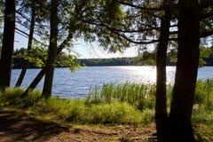 Lago wilderness en sol Imágenes de archivo libres de regalías