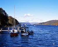 Lago Windermere, Cumbria. Foto de Stock Royalty Free