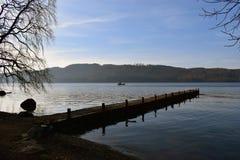 Lago Windermere - Cumbria shot del paesaggio Fotografia Stock Libera da Diritti