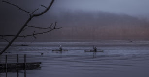 Lago Windermere Kayakers Imagem de Stock