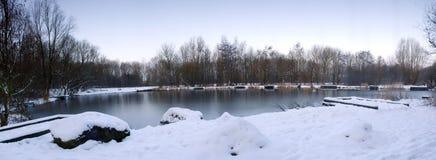 Lago winter Fotografie Stock