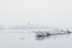 Lago winter Fotos de archivo libres de regalías