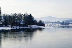Lago winter Imágenes de archivo libres de regalías