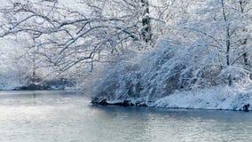 Lago winter video d archivio