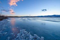 Lago winter foto de stock