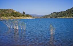 Lago Wohlford, contea di San Diego, California Fotografie Stock Libere da Diritti