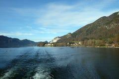 Lago Wolfgangsee in Austria Fotografia Stock
