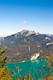 Lago Wolfgangsee e montagna di Schafberg fotografia stock