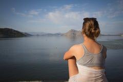 Lago woman Fotografia Stock Libera da Diritti