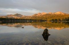 Lago Wrights en la puesta del sol Foto de archivo