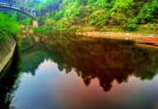 Lago in Wudang, Hubei, Cina Fotografie Stock Libere da Diritti