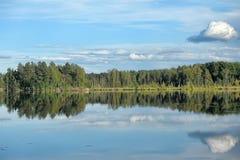 Lago y bosque fotografía de archivo