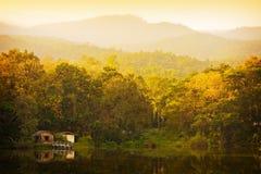 Lago y bosque. vista de Tailandia Imágenes de archivo libres de regalías